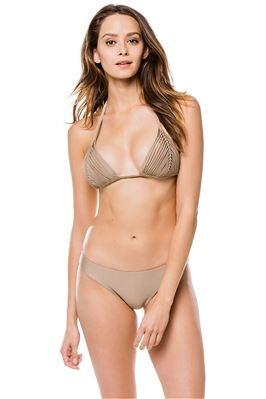 Isla Woven Sliding Triangle Bikini Top