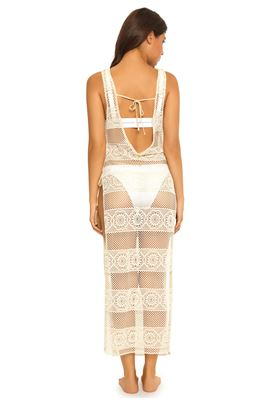 Deep V Crochet Maxi Dress