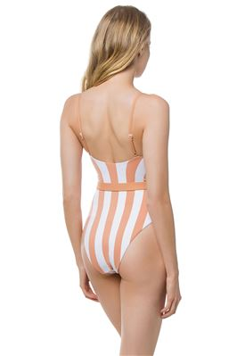 Danielle Striped Underwire One Piece Swimsuit