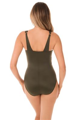 Azura Mesh Underwire Asymmetrical One Piece Swimsuit