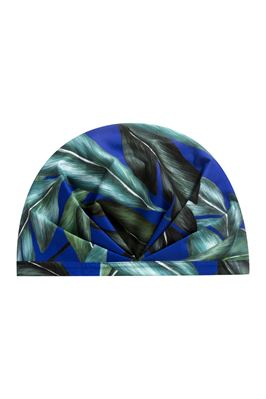 The Pari Leaf Print Swim Cap