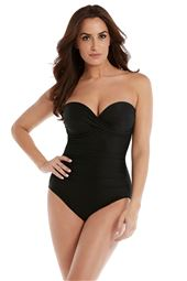 Madrid Sweetheart Shirred Bandeau One Piece Swimsuit