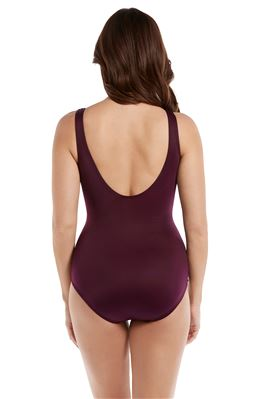Oceanus Surplice Over The Shoulder One Piece Swimsuit