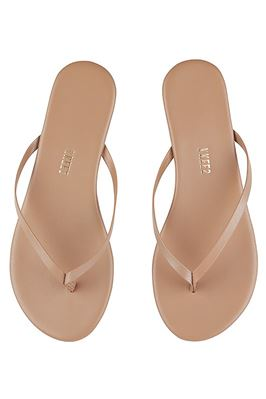 Foundations Shimmer Leather Flip Flops