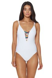 Strappy Plunge One Piece Swimsuit