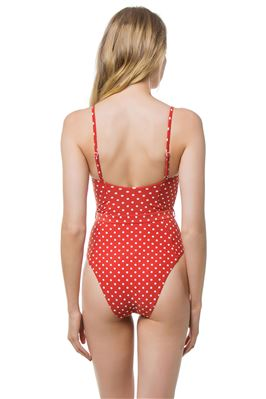 Danielle Belted Underwire One Piece Swimsuit