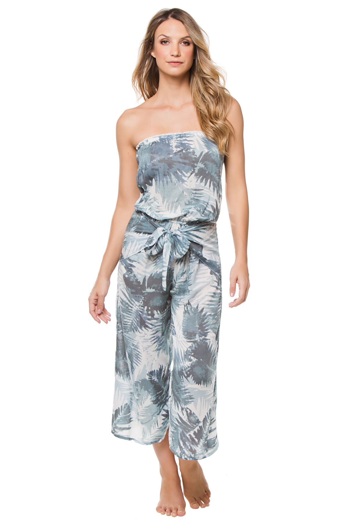 b137e46f9f Surf Gypsy's Wovens Strapless Wrap Tie Jumpsuit