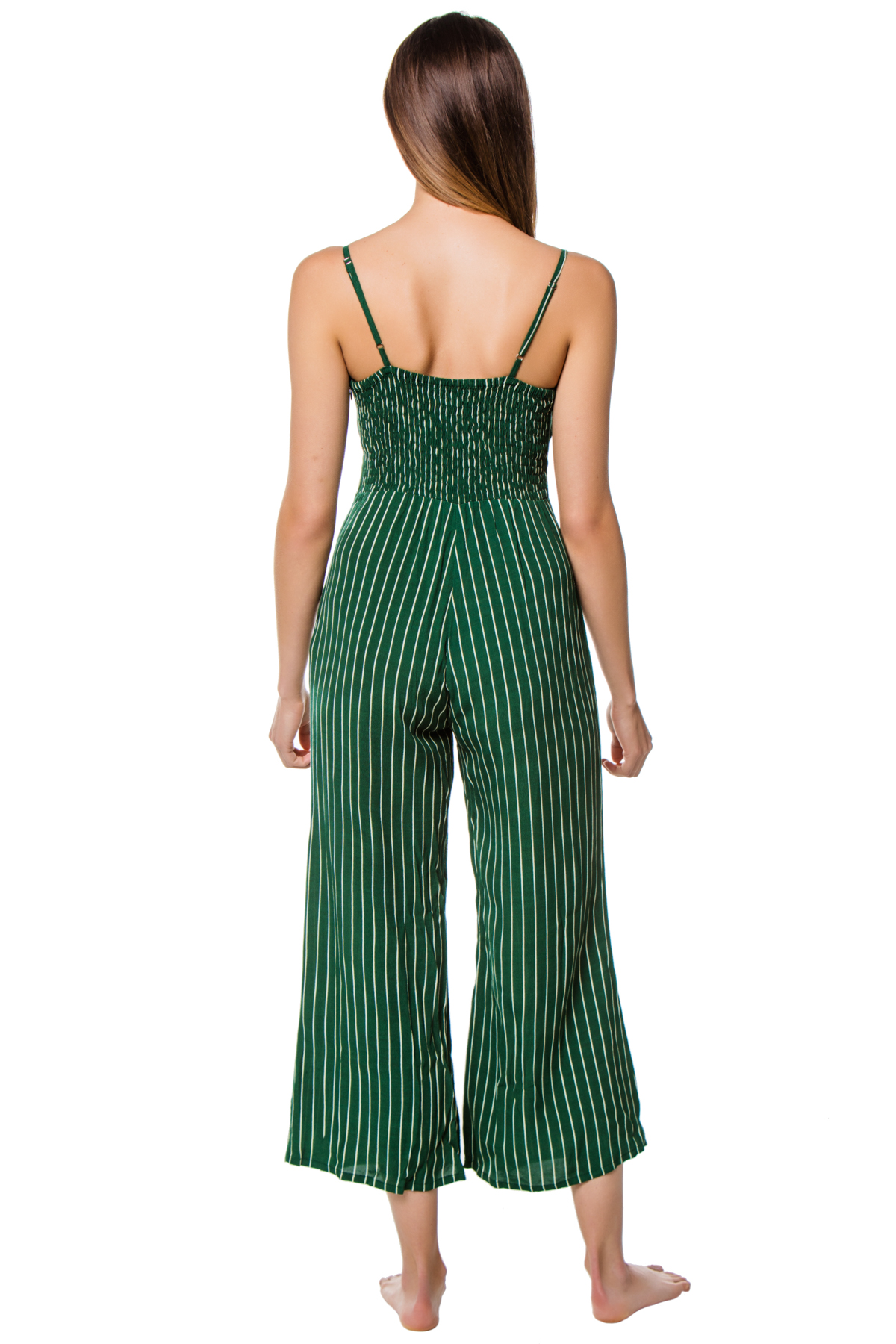 Tie-Front Top Jumpsuit - Paseo Stripe 2