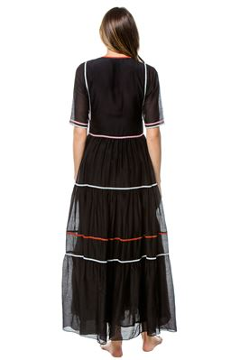 Amina Pleated Bodice Maxi Dress