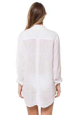 Collared Button Down White Blouse