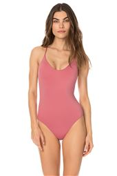 Cutout Back Over The Shoulder One Piece Swimsuit