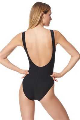 Scoop Neck Over The Shoulder One Piece Swimsuit