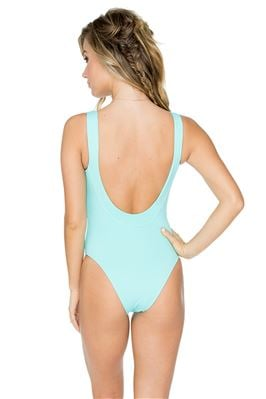 Dusk Over The Shoulder One Piece Swimsuit