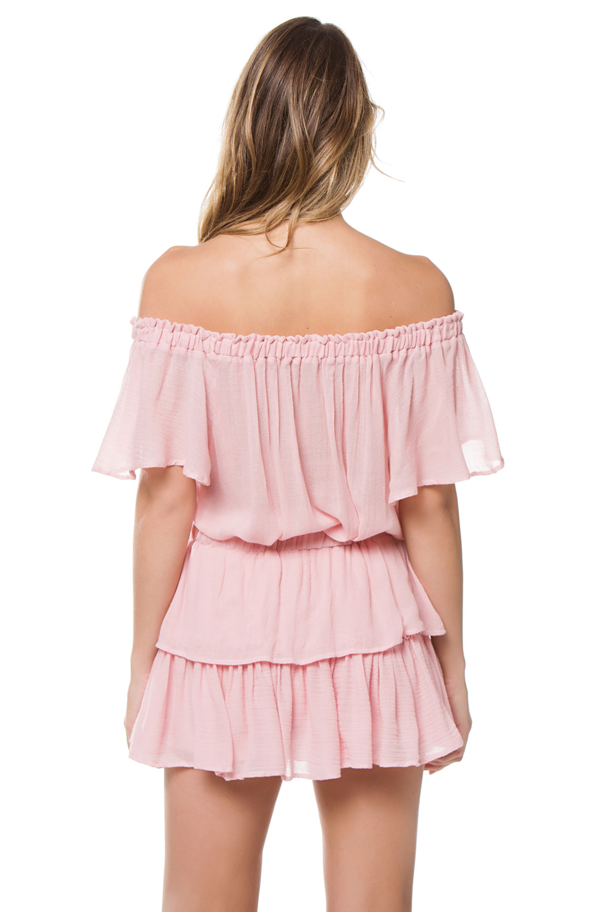 Off The Shoulder Blouse - Silver Pink 2