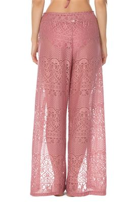 Lace Split Leg Pants