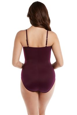 Love Knot Plunge Twist-Front Underwire One Piece Swimsuit