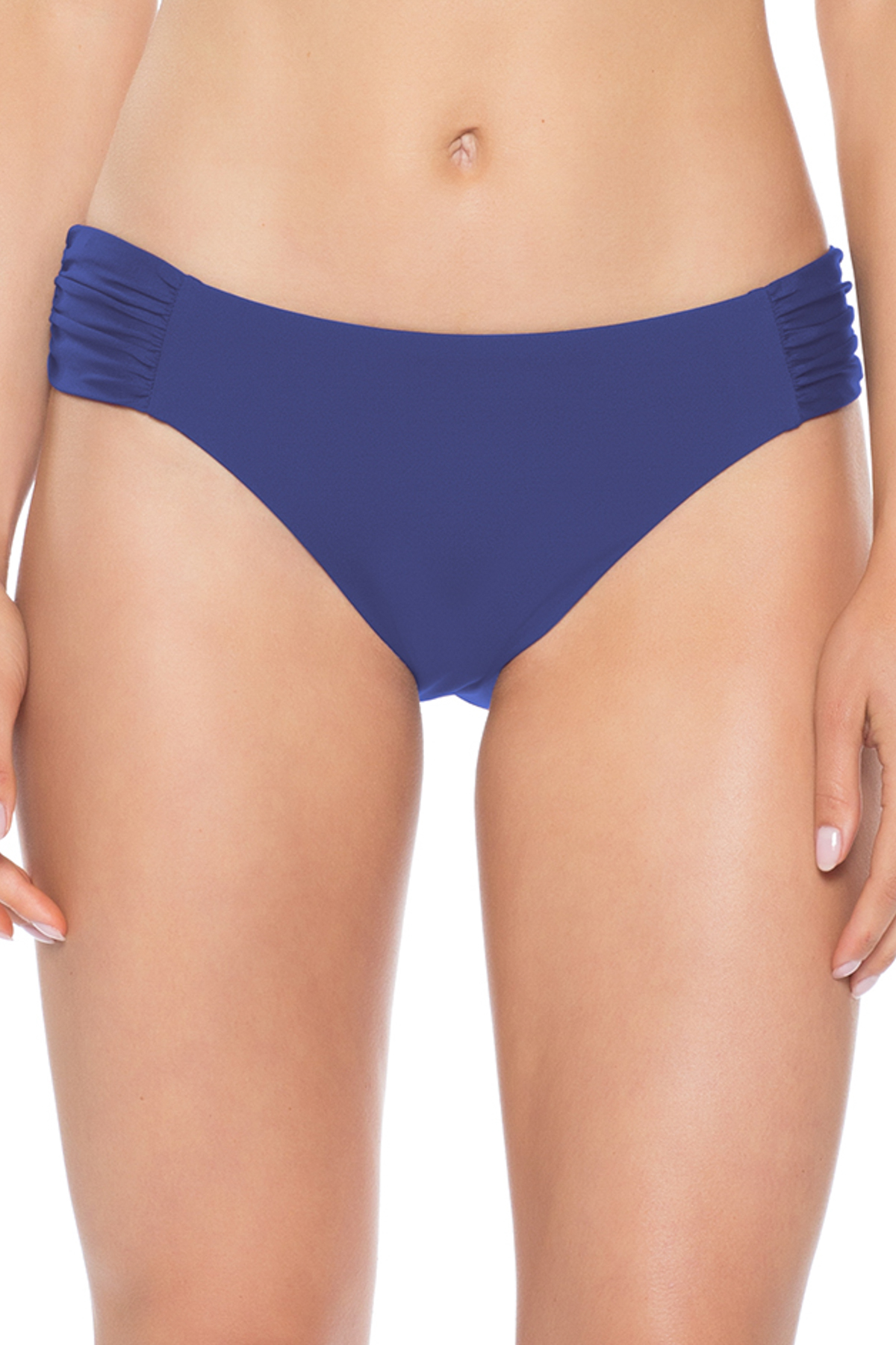 American Shirred Tab Side Hipster Bikini Bottom - Blue Topaz 5