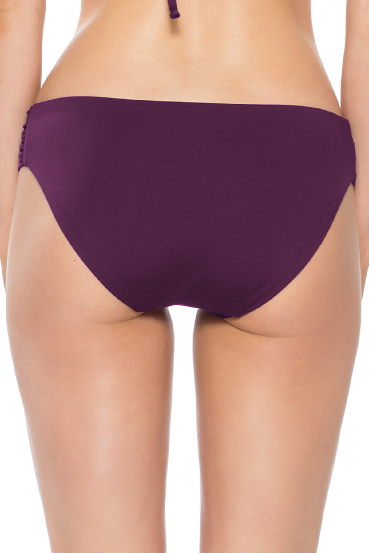 American Shirred Tab Side Hipster Bikini Bottom - Merlot 8