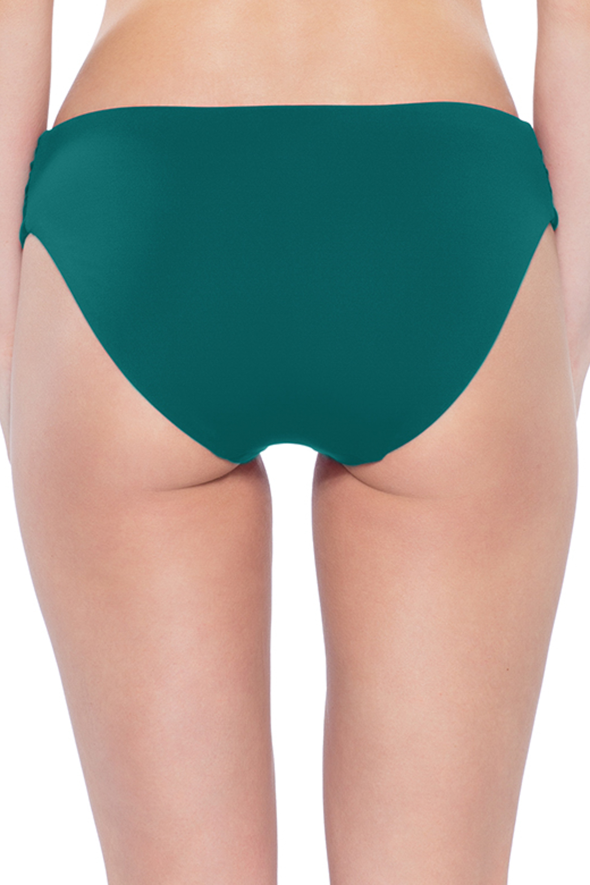 American Shirred Tab Side Hipster Bikini Bottom - Fern 4