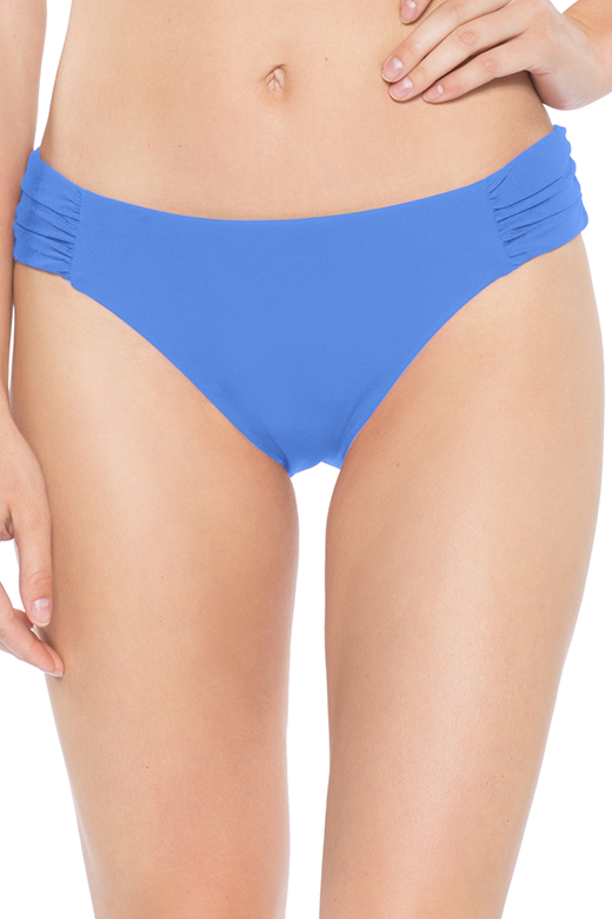 American Shirred Tab Side Hipster Bikini Bottom - Skylight 11