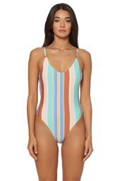 Strappy Ring One Piece Swimsuit