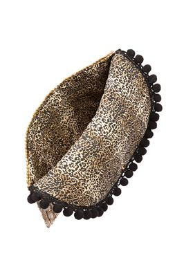 Regan Pom Pom Leopard Interior Clutch