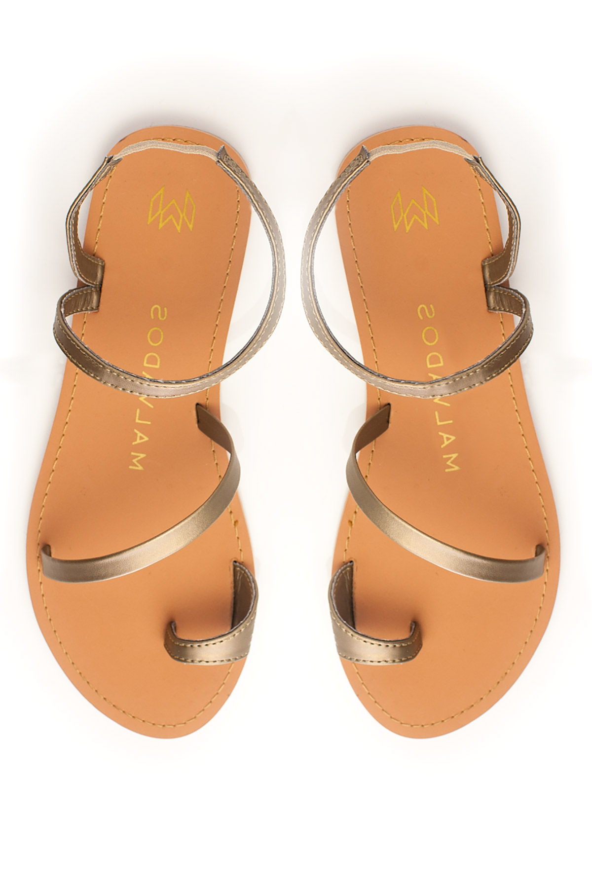 Sia Toe Ring Leather Sandals - Dawn 1