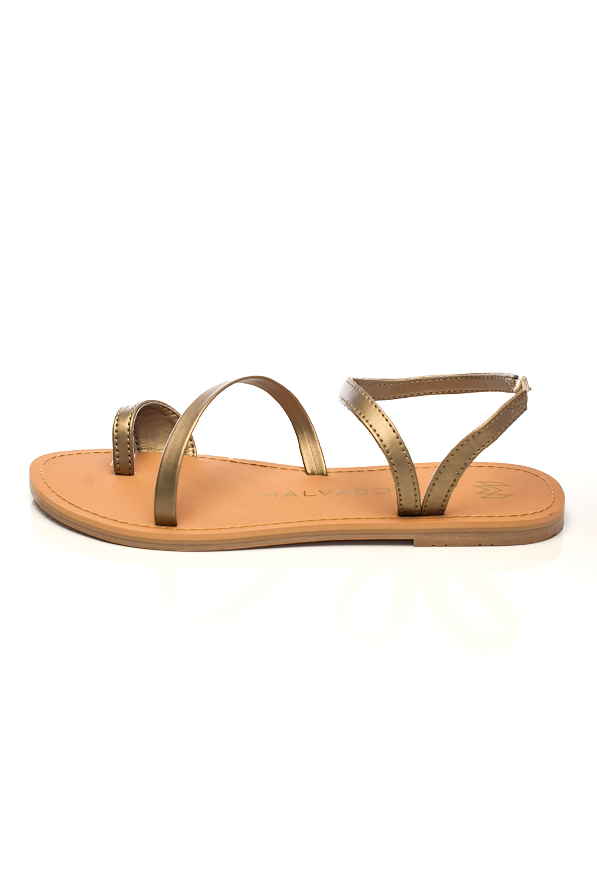 Sia Toe Ring Leather Sandals - Dawn 2