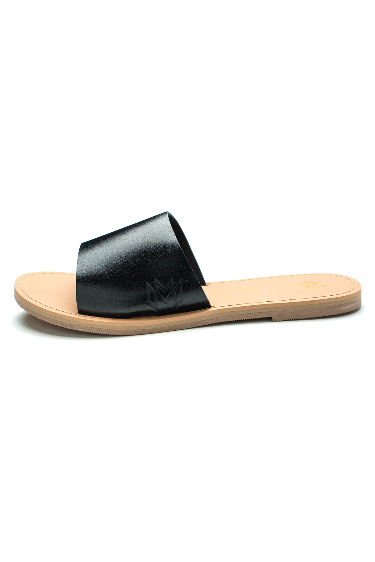 Taylor Leather Slides - Midnight 2