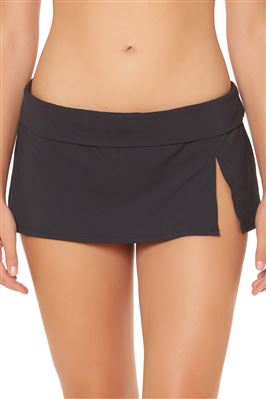 Side Slit Skirted Bikini Bottom
