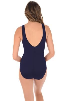 Palma Mesh Plunge High Neck One Piece Swimsuit
