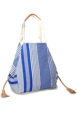 Rosa Fabric Striped Oversized Tote