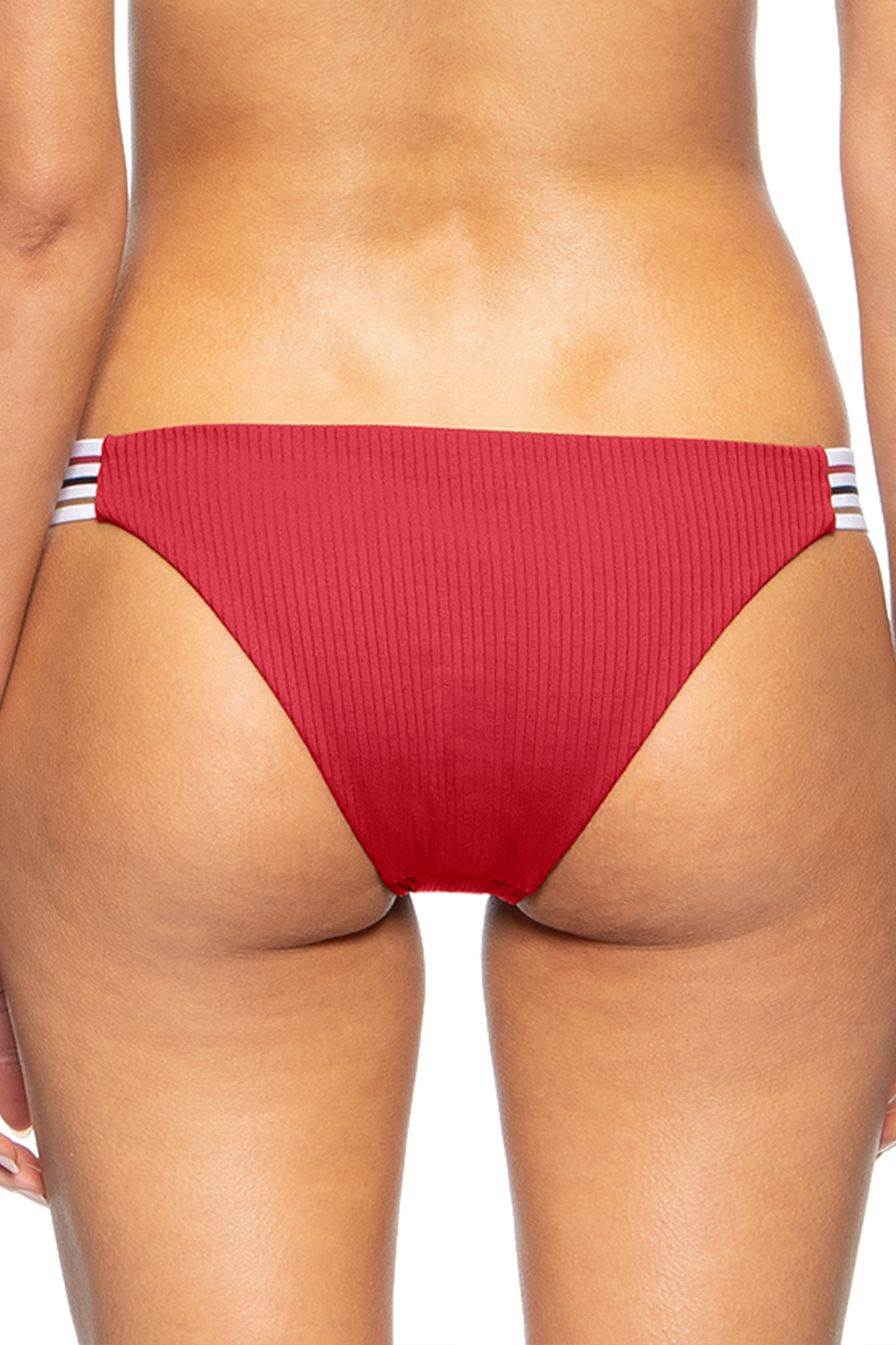 Hadley Tab Side Hipster Bikini Bottom - Scooter Red 2