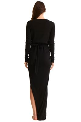 Adalia Long Sleeve Wrap Maxi Dress