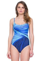 Scoop Neck Over The Shoulder One Piece Swimsuit (D Cup)