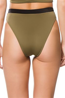 Christie Banded High Waist Bikini Bottom