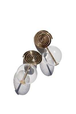 Coil Globe Earrings