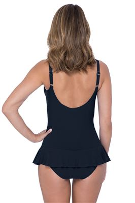 V-Neck Over The Shoulder One Piece Swimdress