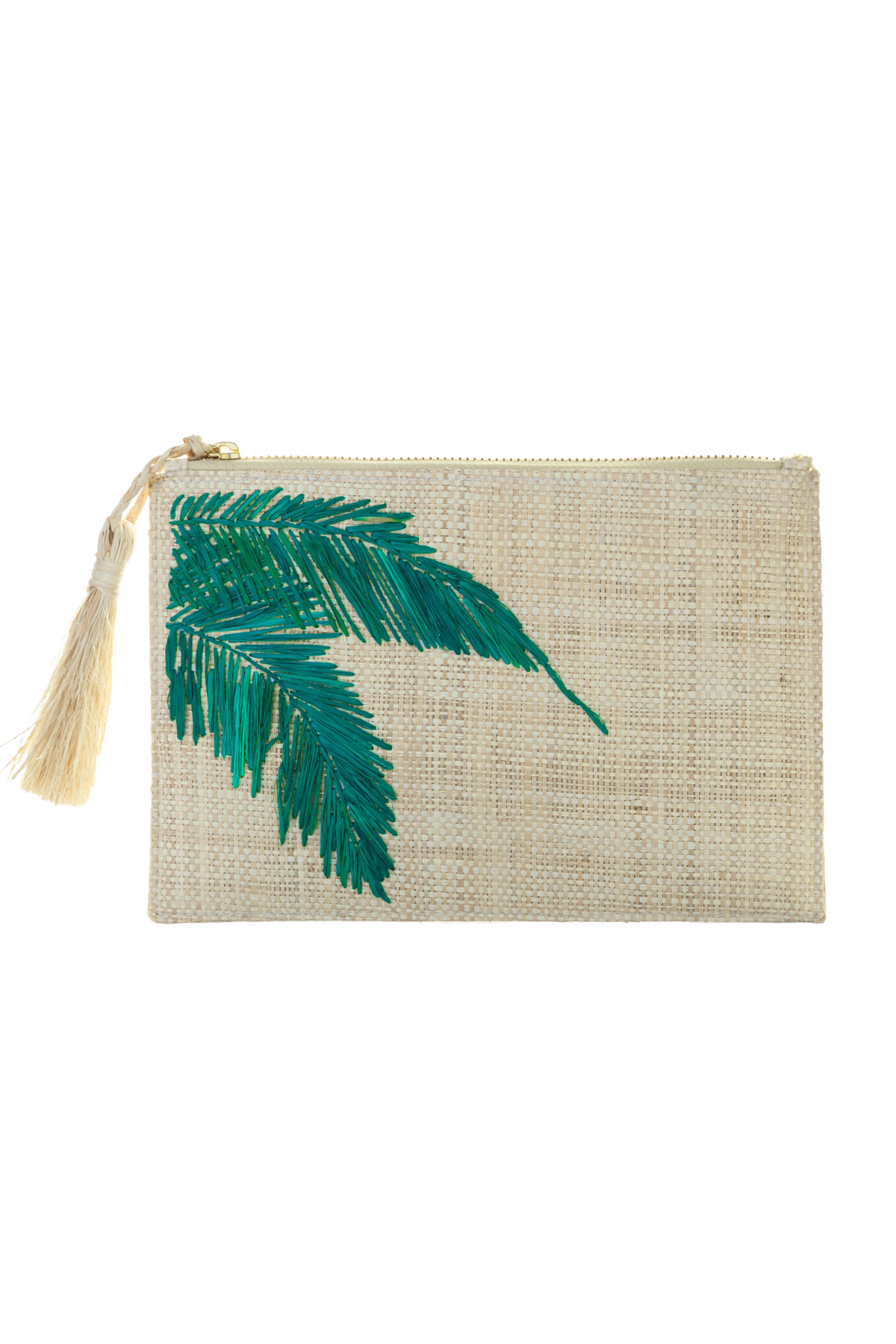 Aleja Embroidered Pouch - Natural 1