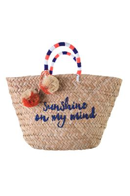 Sol Embroidered Pom Pom Tote