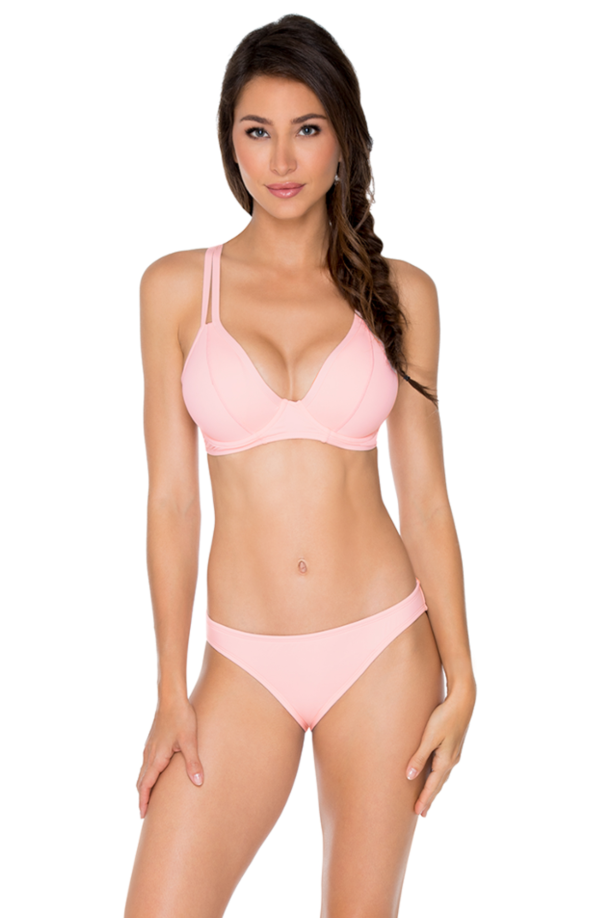 Avalon Underwire Over the Shoulder Bikini Top (D+ Cup) - Seashell
