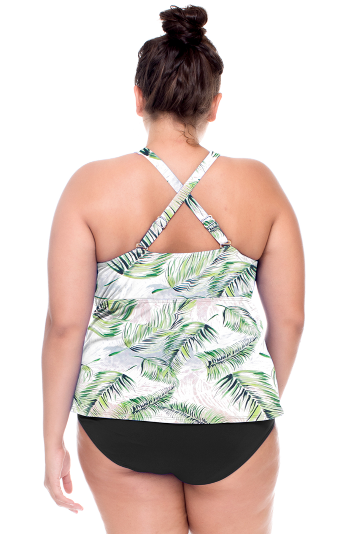 Hannah High Neck Convertible Strap Tankini Top (C-D Cup) - Island Mist 2