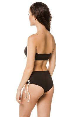 Santaquin Lace-Up Bandeau Bikini Top