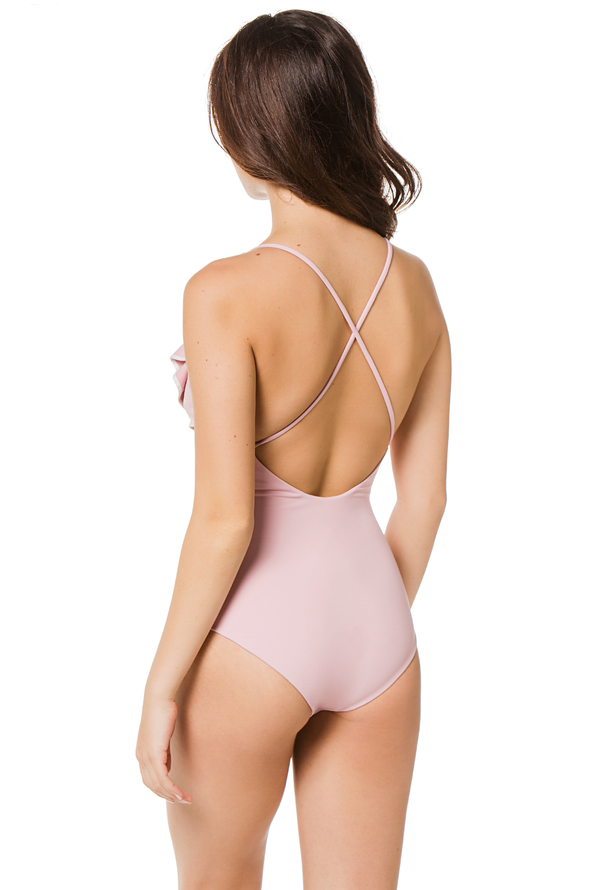 Palisades Asymmetrical One Piece Swimsuit - Lavender 2
