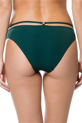 Forest Green Strappy Hipster Bikini Bottom