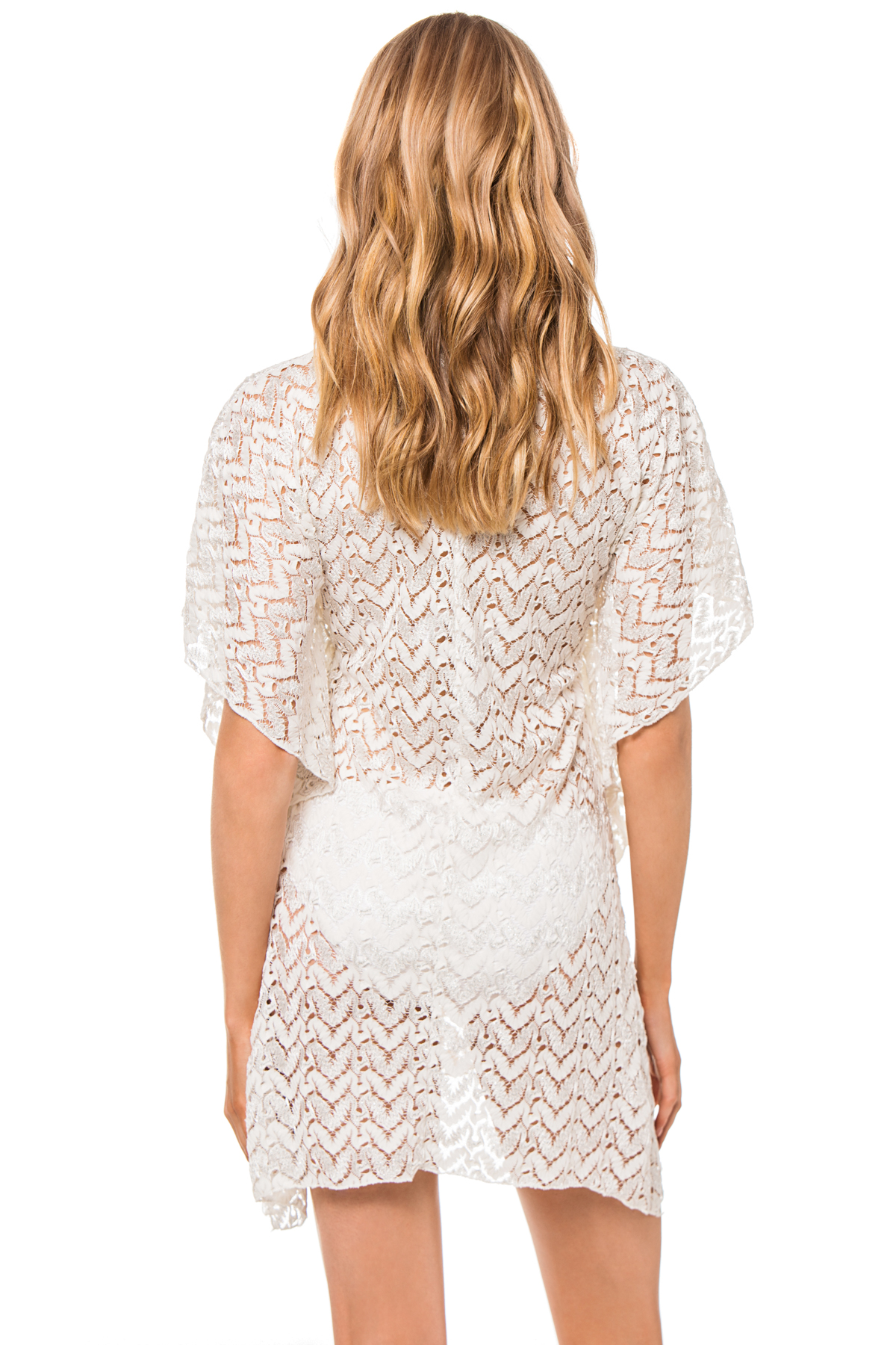Metallic Lace Cover Tunic - Ivory 2