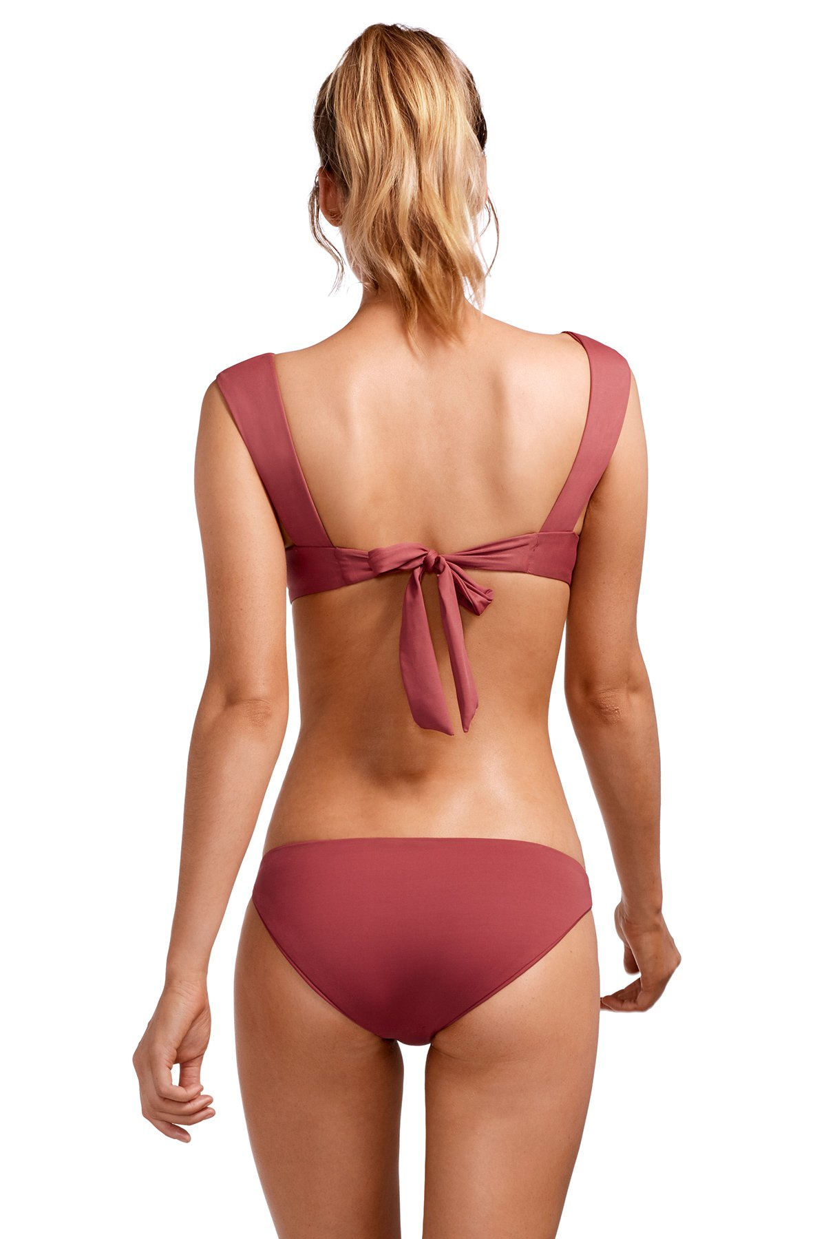 Magnolia Banded Over the Shoulder Bikini Top - Havana Rose 2