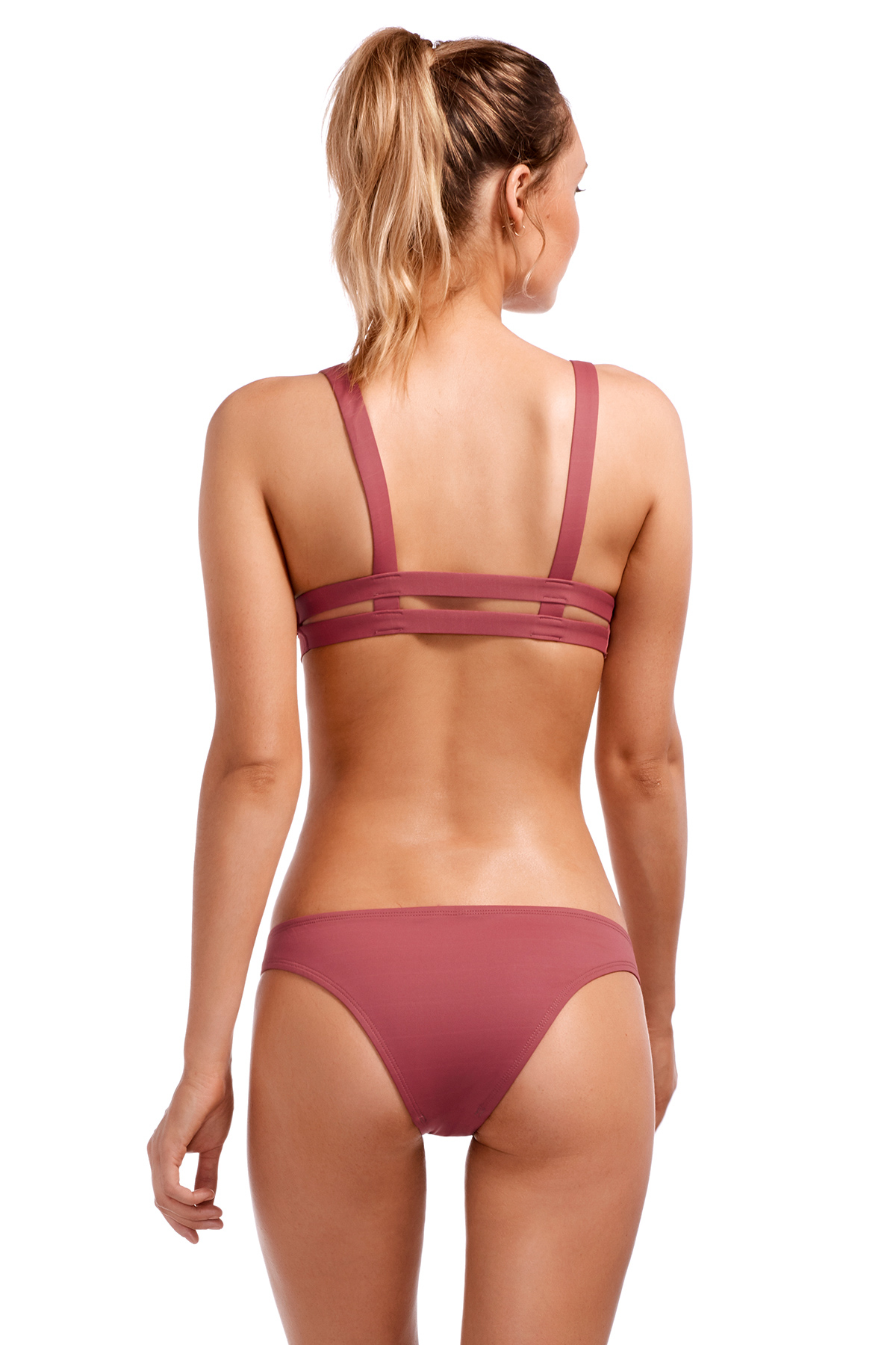 Neutra Bralette Banded Triangle Bikini Top - Havana Rose 2