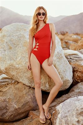 Cutout Asymmetrical One Piece Swimsuit