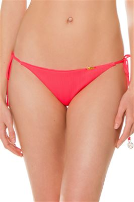 Ribbed Ruched Back Tie Side Brazilian Bikini Bottom